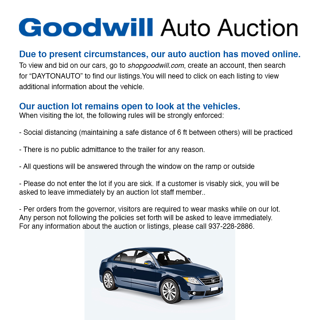 Listings At Www Shopgoodwill Com Goodwill Auto Auction